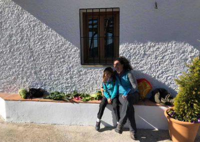 Elena Correal con familia